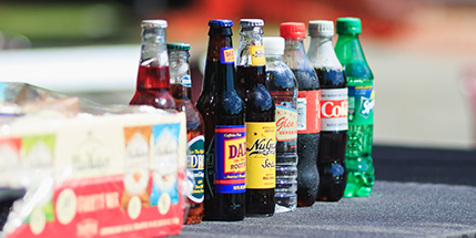 different kinds of soft drinks