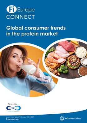 Global consumer trends in the protein market report cover